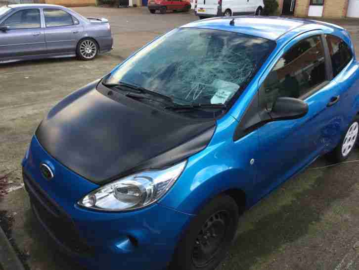 ford ka 2011 blue cat d salvaged damaged repairable car. Black Bedroom Furniture Sets. Home Design Ideas