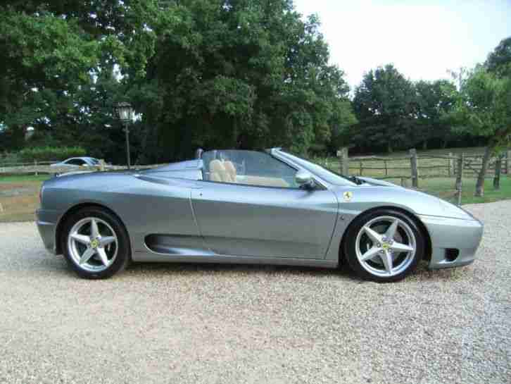 Ferrari 360 3.6 ( 400bhp ) Spider RARE MANUAL EXAMPLE