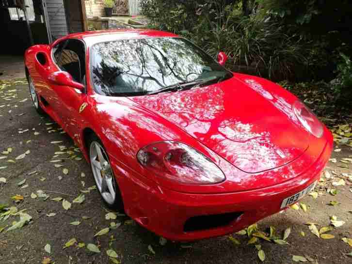 Ferrari 360 F1 Modena 1999 RHD Low Mileage Stunning car Red Leather etc MOT FSH