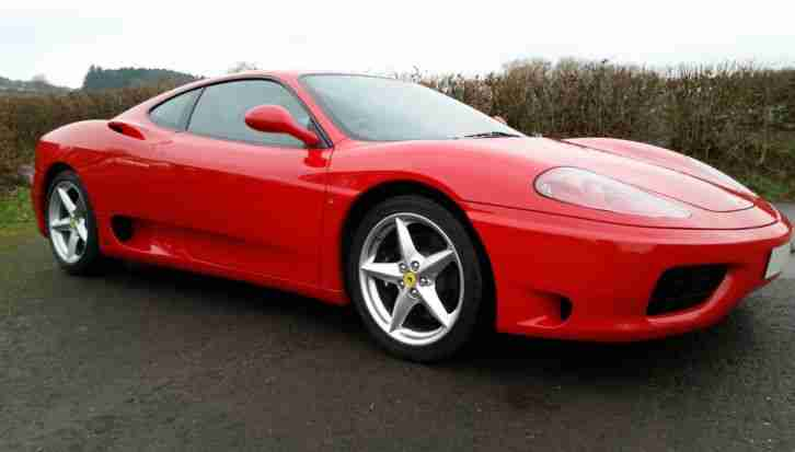 Ferrari 360 Modena UK Manual Coupe,Red with Black Leather,FSH, 6k recently spent