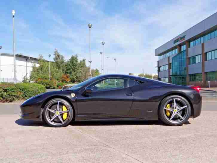 Ferrari 458 Italia 2012 '12'. 5800miles, Black Black with Yellow Stitching