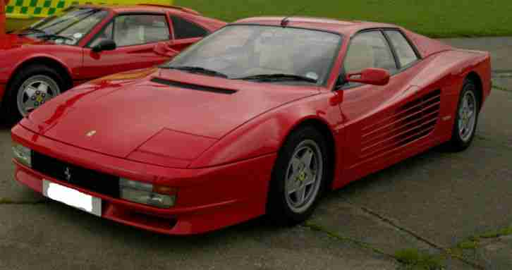 Ferrari Testarossa 1991 (Red with cream leather and black carpets) 23742 miles