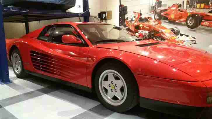 Ferrari Testarossa LHD. Ferrari car from United Kingdom