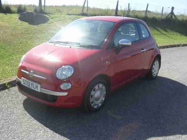 Fiat 500 1.2 ( 69bhp ) ( s s ) POP 2013 MOT 21 6 19 Red FSH £30 Tax 66250Mls
