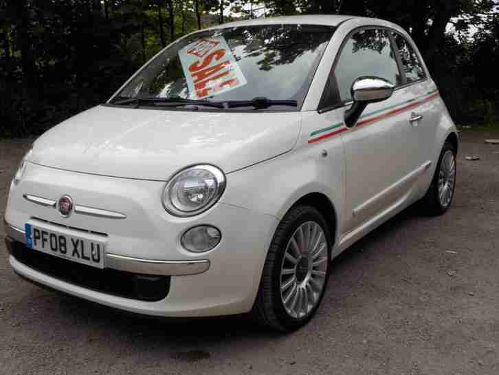 Fiat 500 1.2 POP,WHITE,28000 MILES,PETROL,MANUAL,