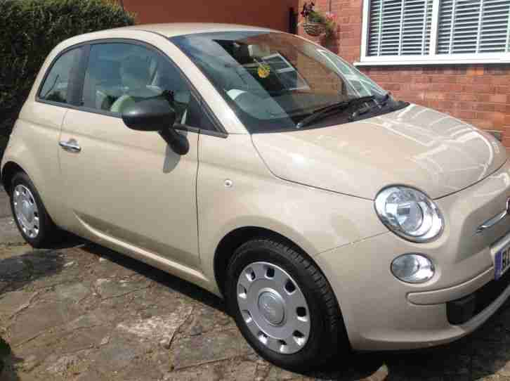 fiat 500 pop 2012 beige cappuccino excellent condition no reserve. Black Bedroom Furniture Sets. Home Design Ideas