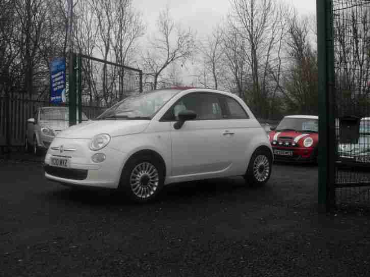 Fiat 500C 1.2 convertible POP 2010 in white 55000 miles RAC APPROVED DEALER