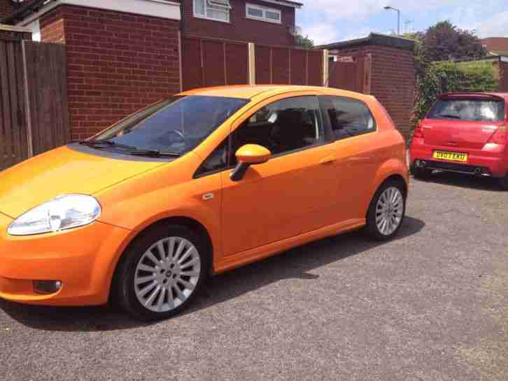 fiat punto 2007 1 4 sporting 16v orange car for sale. Black Bedroom Furniture Sets. Home Design Ideas
