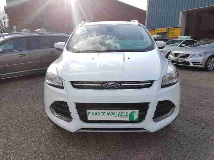 Ford Kuga 2.0 TDCi Titanium 4x4 5dr HATCHBACK AUTOMATIC 2013 13 REG WHITE DIESEL