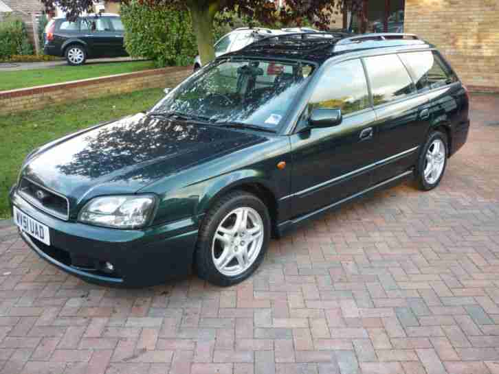 GREEN 2001 SUBARU LEGACY 2.5 4WD AUTOMATIC GX LUX PACK