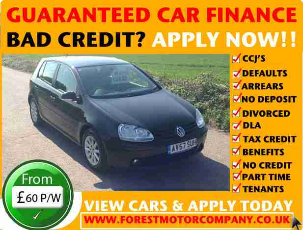 volkswagen guaranteed car finance bad credit vw golf  fsi match