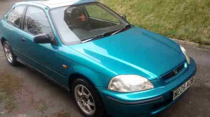 CIVIC 1.4I GREEN 1996 2 DOOR COUPE RARE