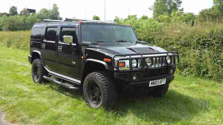hummer h2 american luxury 4x4 2003 in stealth black car. Black Bedroom Furniture Sets. Home Design Ideas