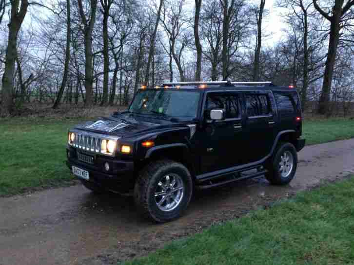 HUMMER H2 LUX BLACK/SPRING CONVERSION/MASSIVE AUDIO UNIT/K AND N/PX/SWAP