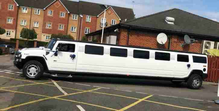 H2 limousine 16 seater White