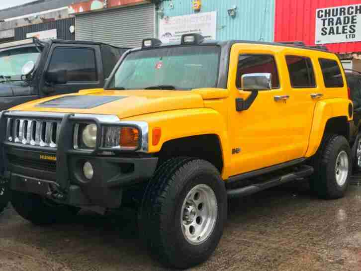 H3 3.5 LEFT HAND DRIVE YELLOW MODIFIED