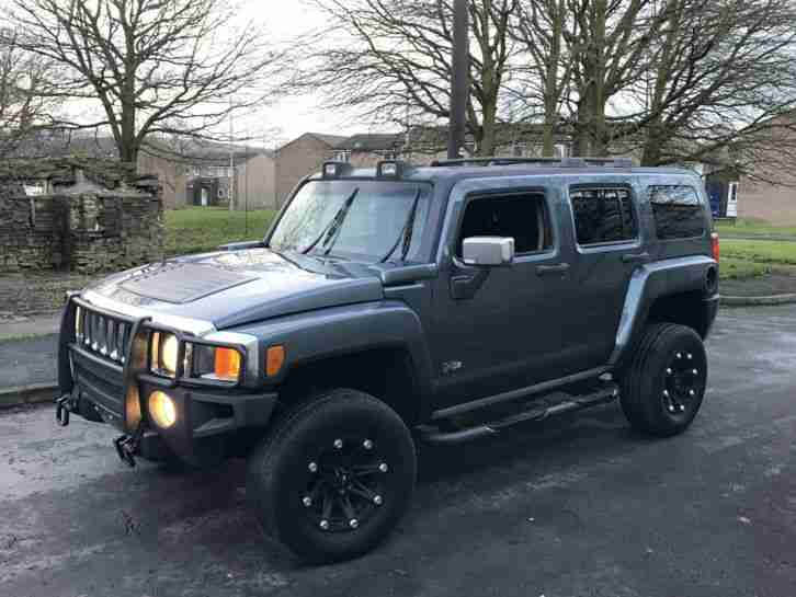 HUMMER H3 3.7 AUTO GREY MODIFIED CUSTOM IMMACULATE RUST FREE FRESH IMPORT