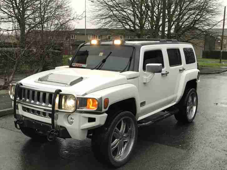 HUMMER H3 3.7 AUTO WHITE MODIFIED LHD CUSTOM IMMACULATE RUST FREE FRESH IMPORT