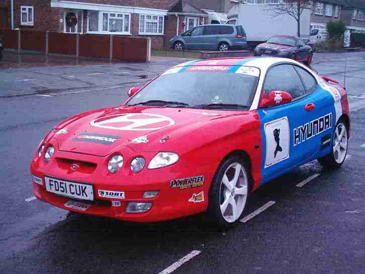 HYUNDAI COUPE 2001 IN RALLY COLOURS LIKE CELICA