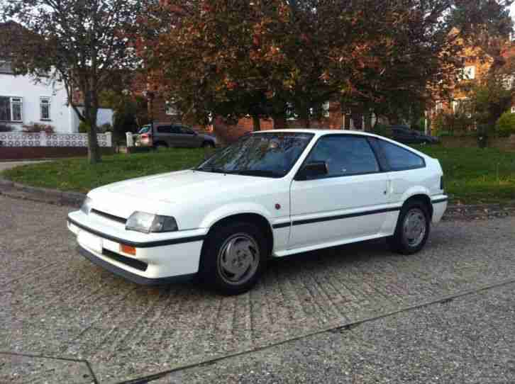 Honda Crx Mk1 1 6i 16v Dohc 1987 White Cr X Car For Sale