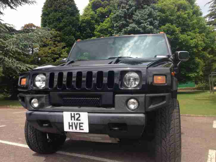 Hummer H2 Black. Hummer car from United Kingdom