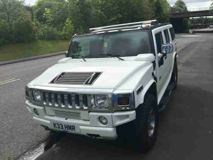 Hummer H2 White. Hummer car from United Kingdom