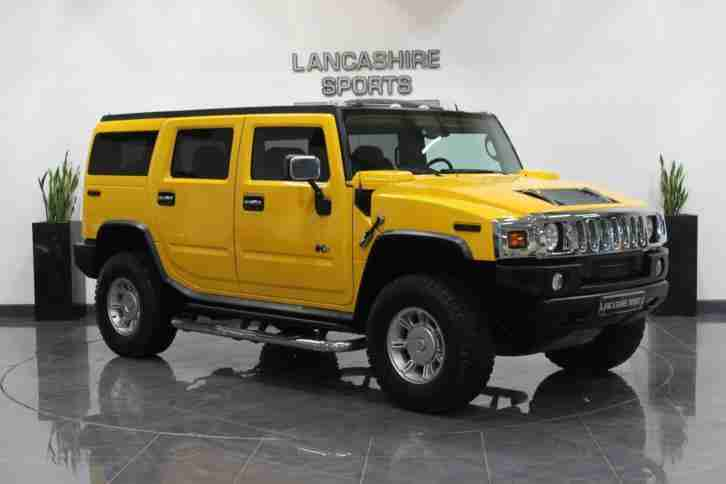 Hummer H2 yellow. Hummer car from United Kingdom