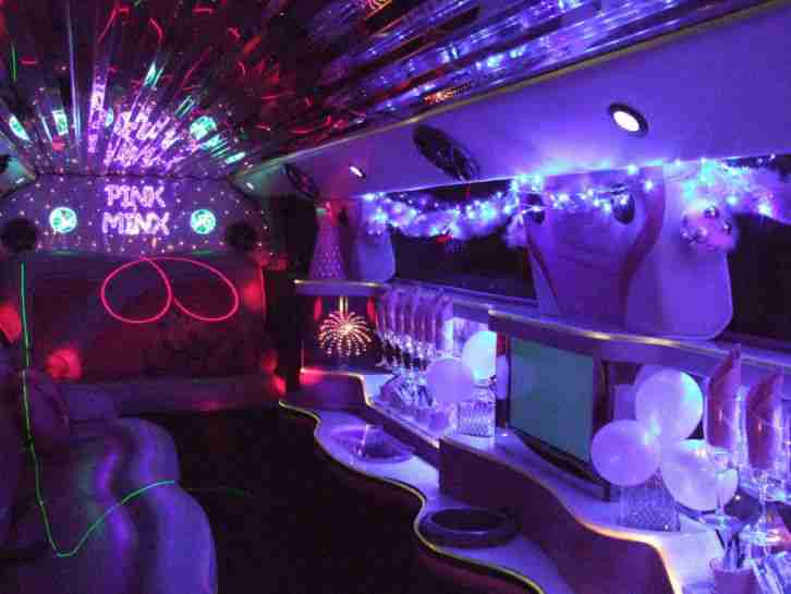 Hummer H3 Stretch Pink Limousine 8 Seater Limo Hire