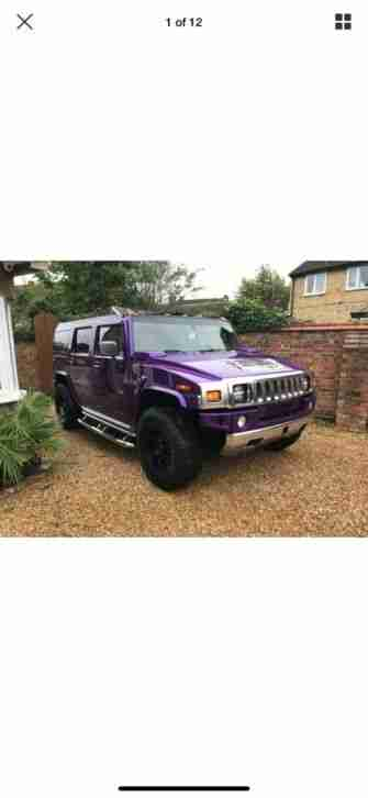 Hummer h2 finished in Midnight Purple, One of a kind