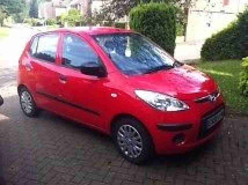 Hyundai I10 red. Hyundai car from United Kingdom