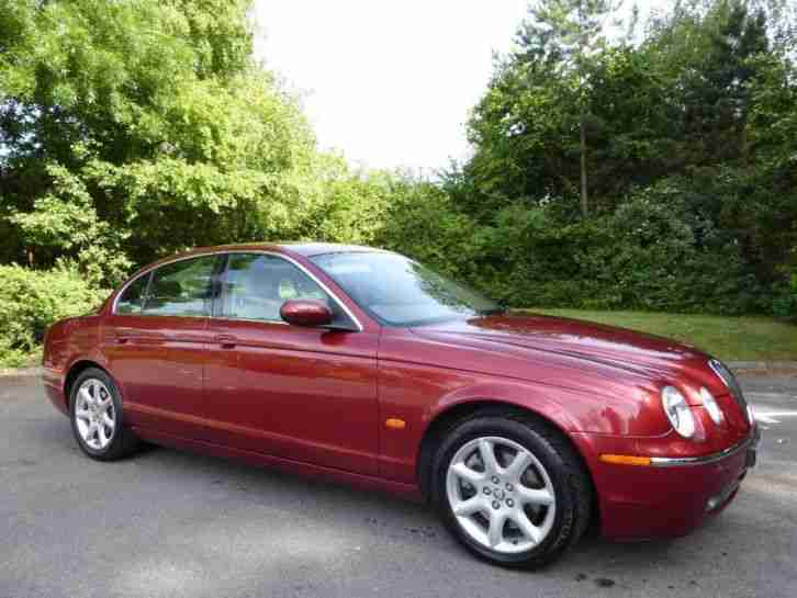 jaguar s type v6 se diesel 2005 diesel automatic in red. Black Bedroom Furniture Sets. Home Design Ideas