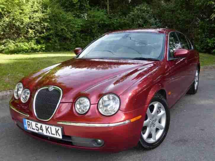 jaguar s type v6 se diesel 2005 diesel automatic in red car for sale. Black Bedroom Furniture Sets. Home Design Ideas
