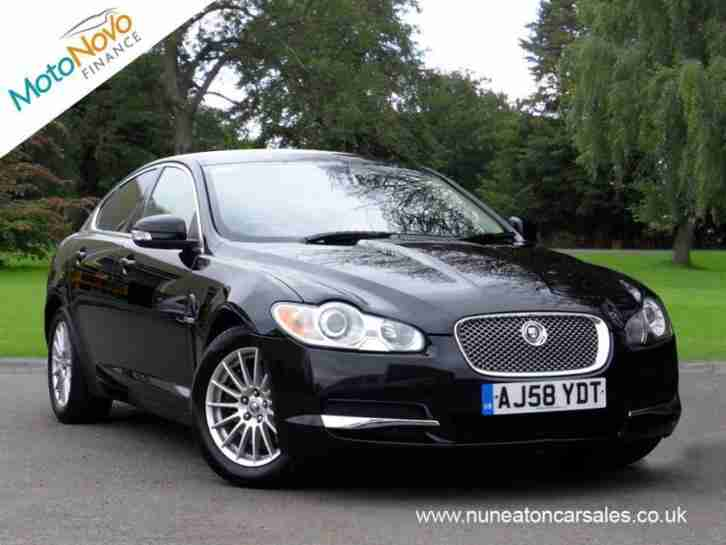 jaguar xf luxury v6 black auto diesel 2008 car for sale. Black Bedroom Furniture Sets. Home Design Ideas