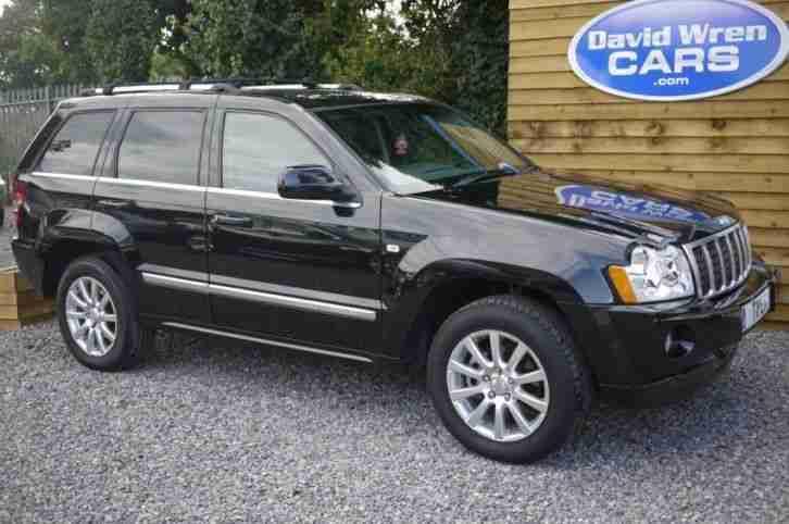 jeep grand cherokee 3 0 v6 crd overland 2007 diesel automatic in black. Black Bedroom Furniture Sets. Home Design Ideas