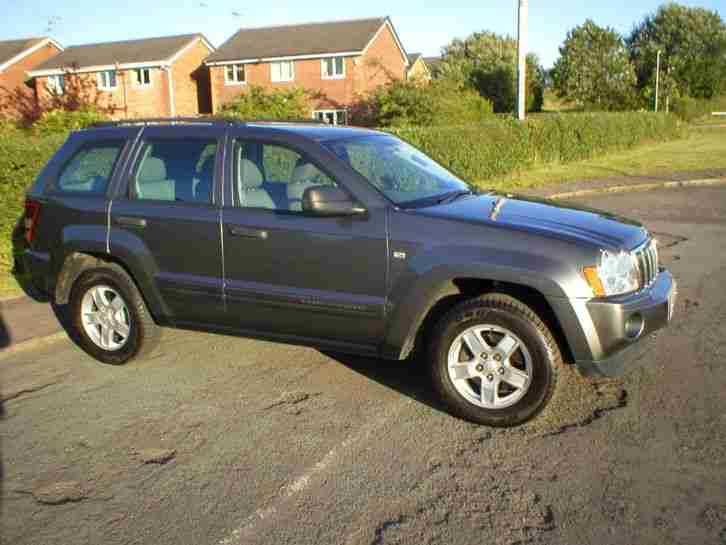 jeep grand cherokee 3 0crd v6 auto 2005 diesel 4x4 83k grey mot car for sale. Black Bedroom Furniture Sets. Home Design Ideas