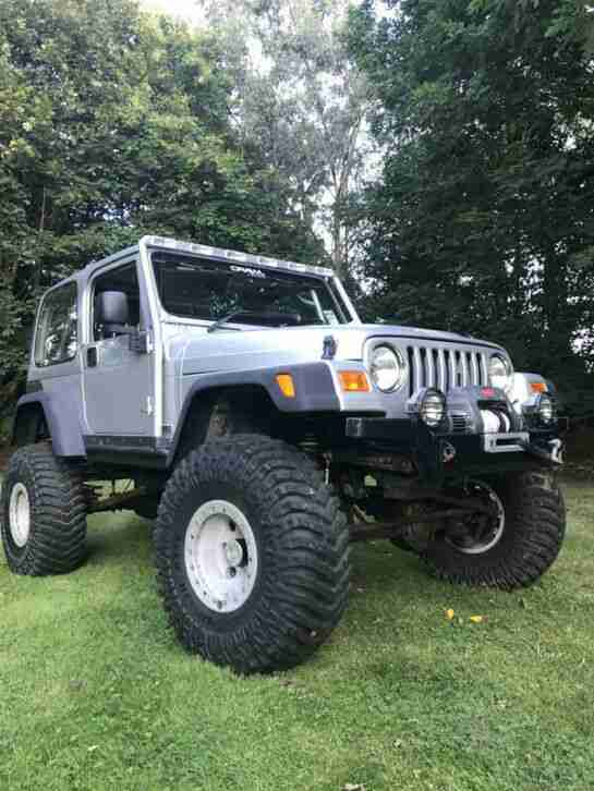 JEEP TJ WRANGLER offroader 4x4 SUPERCHARGED long arm ARB Maxxis OBA ROCK CRAWLER