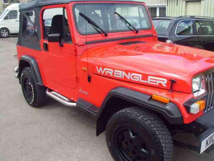 jeep wrangler 2 5 red 1993 car for sale. Black Bedroom Furniture Sets. Home Design Ideas