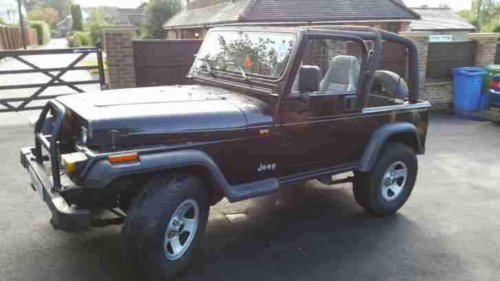 jeep wrangler 2 5l black with hard soft top car for sale. Black Bedroom Furniture Sets. Home Design Ideas