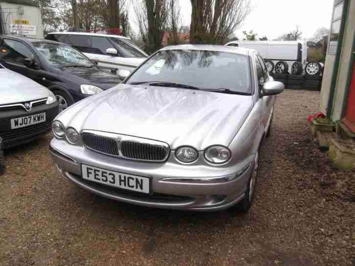 Jaguar X-TYPE V6 5spd Full MOT Silver with Alloys Black Leather Interior, 53 Reg