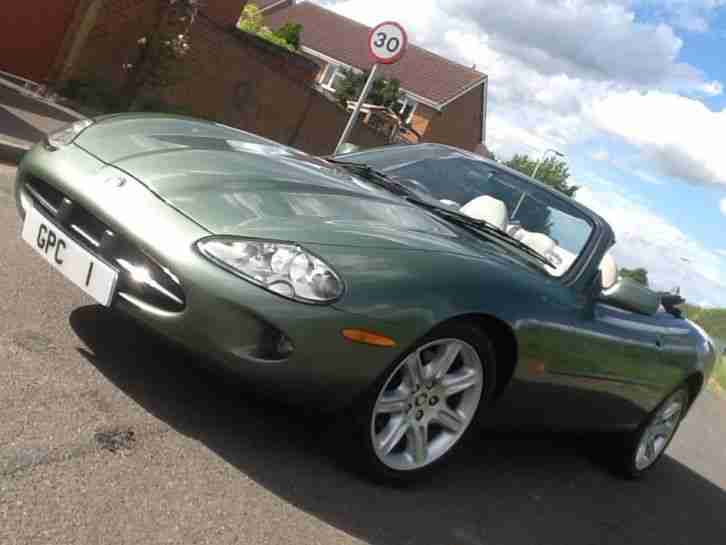 Jaguar XK8 4 0 auto Convertible 1 OWNER FROM NEW RARE ALPINE GREEN