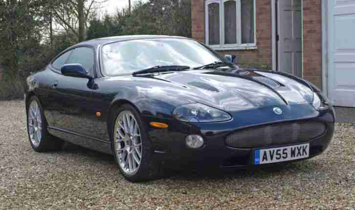 Exceptional Jaguar XKR 4.2S Coupe 2005 In Bay Blue With Ivory Leather Interior