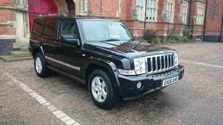 jeep commander 3 0 crd limited 4wd black with 67000 miles. Black Bedroom Furniture Sets. Home Design Ideas