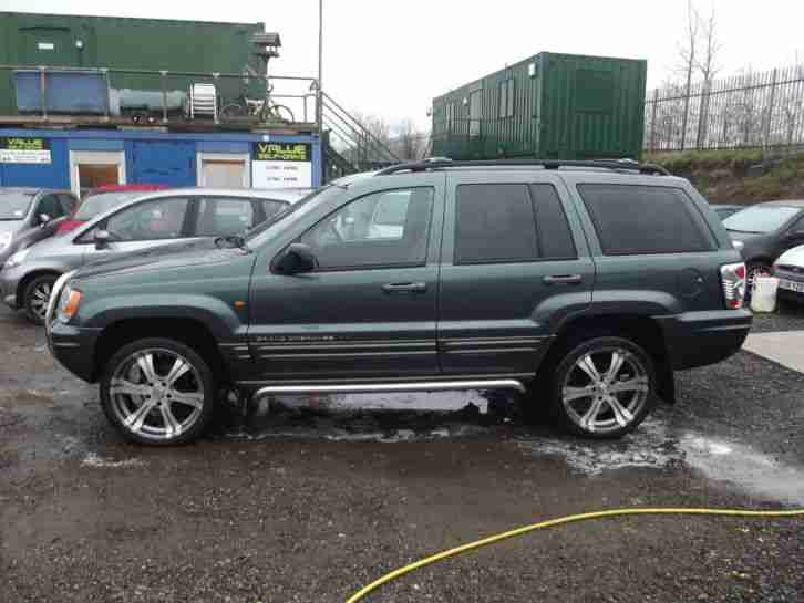 jeep grand cherokee 2 7 crd auto limited 2002 forest green. Black Bedroom Furniture Sets. Home Design Ideas