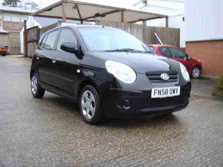 KIA PICANTO 2 BLACK 1.1 PETROL WITH A 12 MONTH WARRANTY