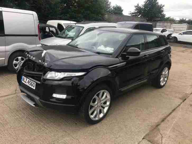 LAND ROVER - RANGE ROVER EVOQUE PURE TECH BLACK - DAMAGED SALVAGE REPAIRABLE