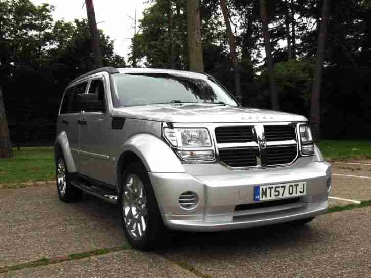 LATE 2007 57 DODGE NITRO 2.8 CRD 4WD 6 SPEED TURBO DIESEL MANUAL SILVER PX SWAP