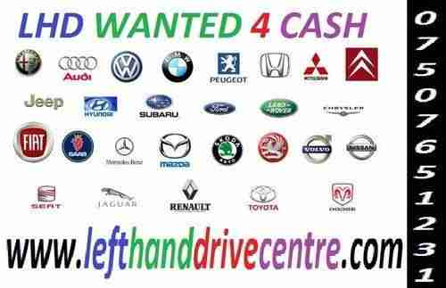 LHD LEFT HAND DRIVE VEHICLES WANTED FOR CASH