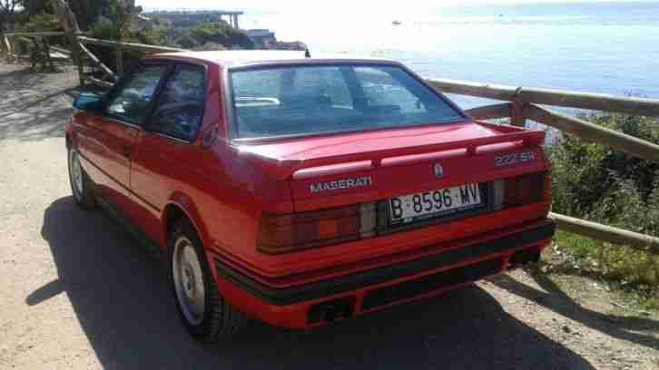 LHD MASERATI 222SR IN SPAIN LEFT HAND DRIVE SPANISH REG FROM NEW