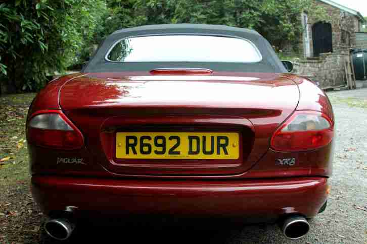 LOW MILEAGE JAGUAR XK8 CONVERTIBLE 1998 ONLY 60,600 MILES Carnival Red Mica