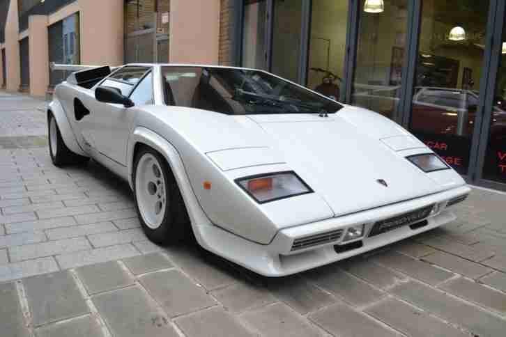 Lamborghini Countach 5000s In White On A Two Tone Interior Car For Sale